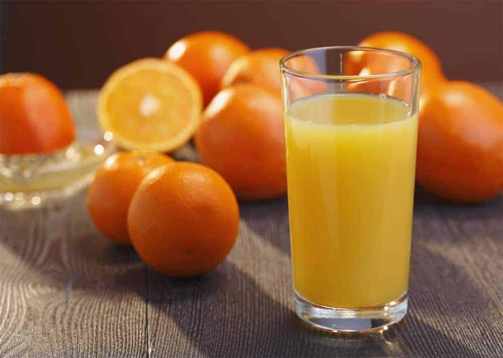 Jugo de naranja procesado