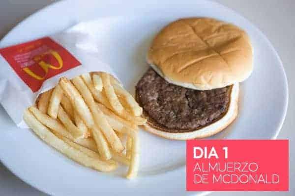 Almuerzo de McDonald - Dia 1