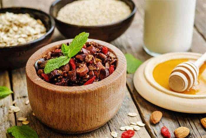 Granola y quinola