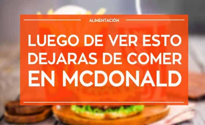 No comas en McDonald