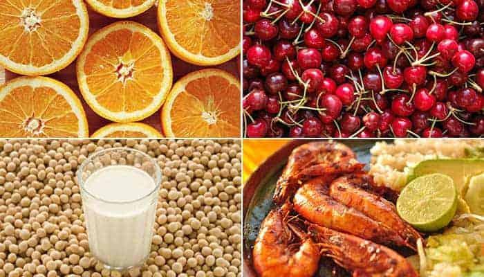 Alimentos con vitamina C y B12
