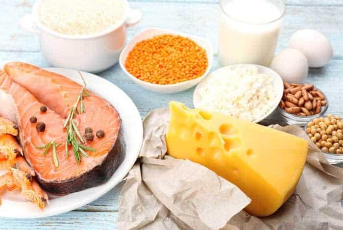 Comida con muchas proteinas