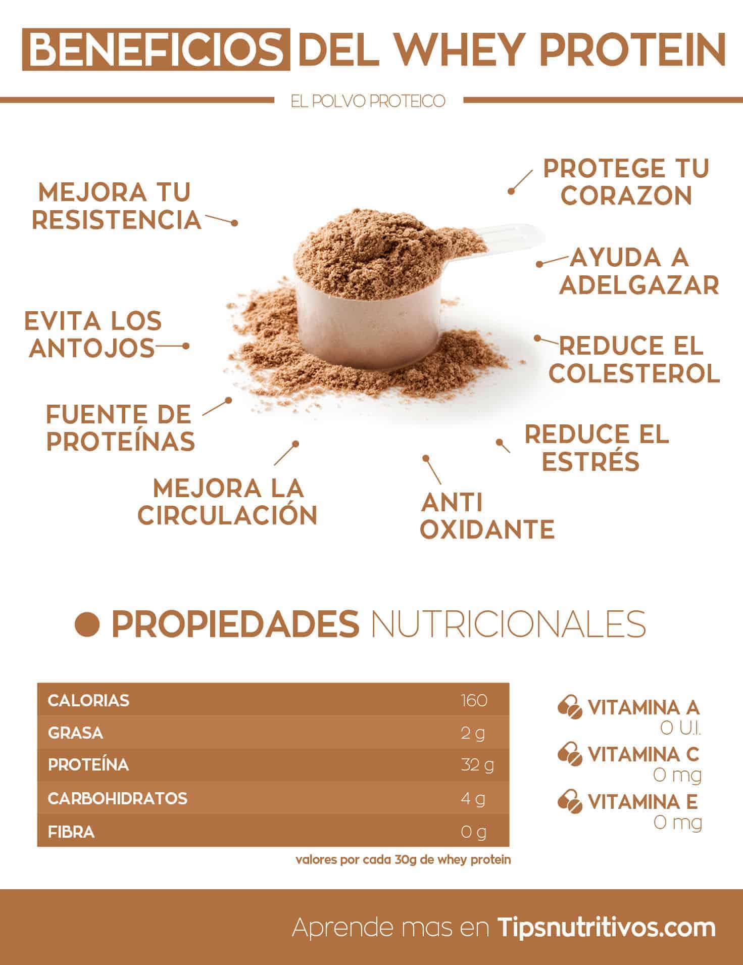 Beneficios del whey protein - Infografia