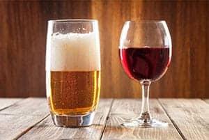 Cerveza vs vino