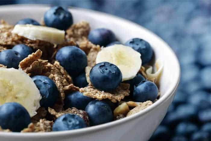 desayuno con arandanos