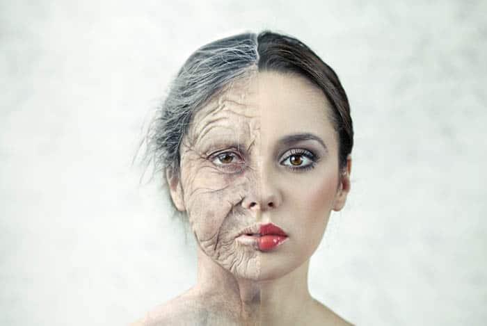 Mujer envejeciendo