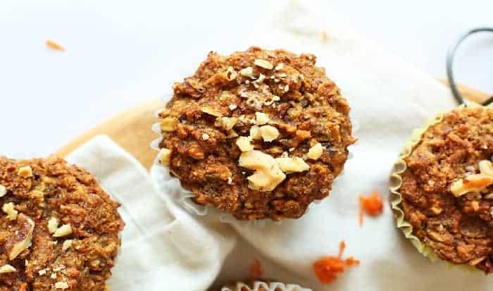 Muffins de Zanahoria nueces