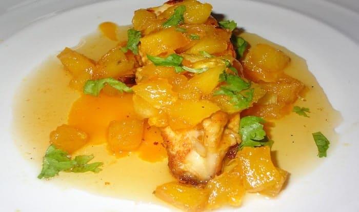 pollo y mango