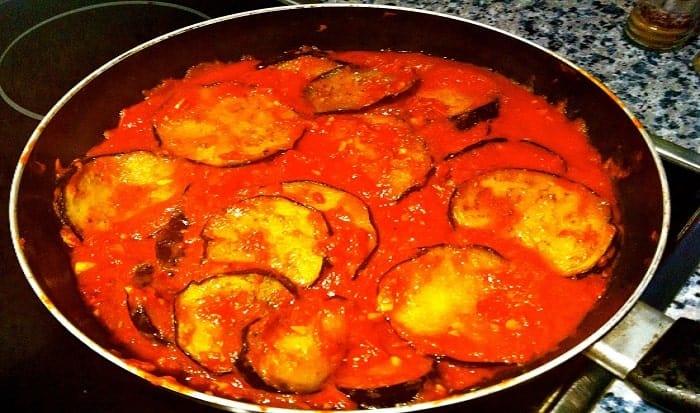 berenjenas en salsa