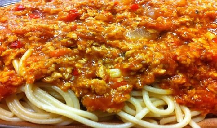 bolonesa de soja