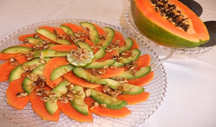 papaya y aguacate
