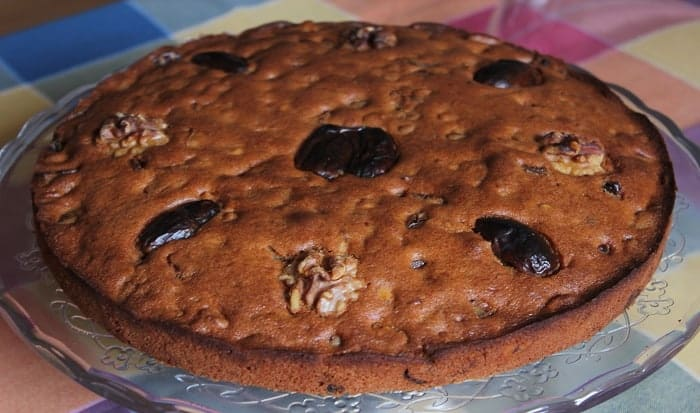 pastel de datiles y nueces