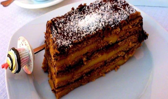torta de cacao y coco
