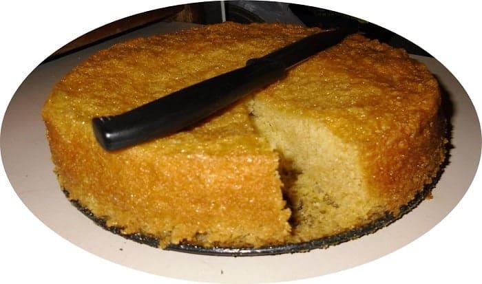 torta sin harina ni azucar