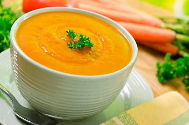 crema naranja de vegetales tipsnutritivos