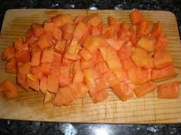 papaya-trozos
