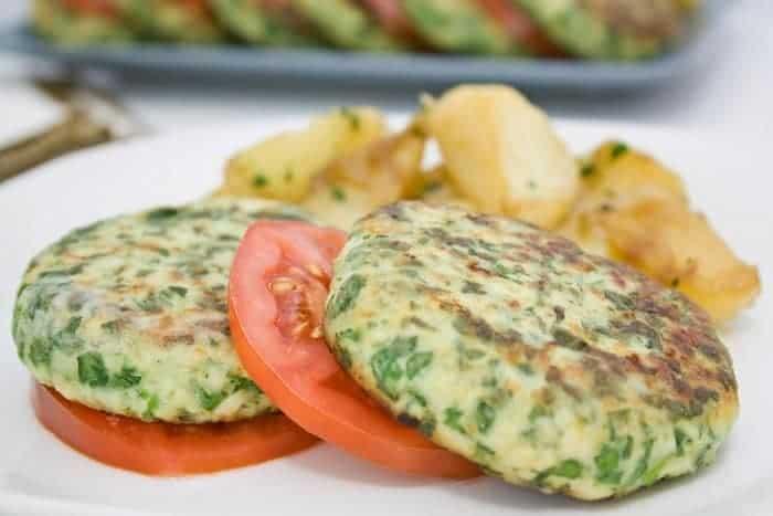 Hamburguesitas de pollo y espinacas tipsnutritivos - Comidas con pollo faciles ...