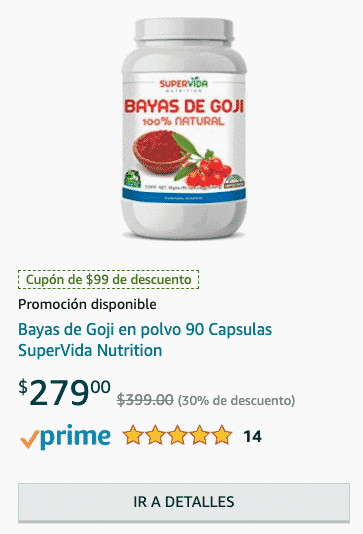 Goji berry capsulas para bajar de peso