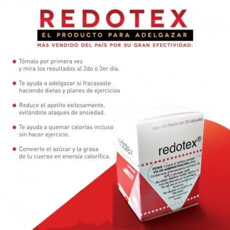 Frasco de Redotex (30 Capsulas)